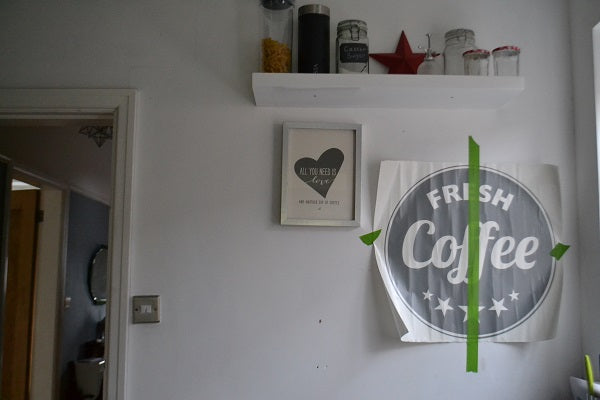 coffee wall sticker on the wall