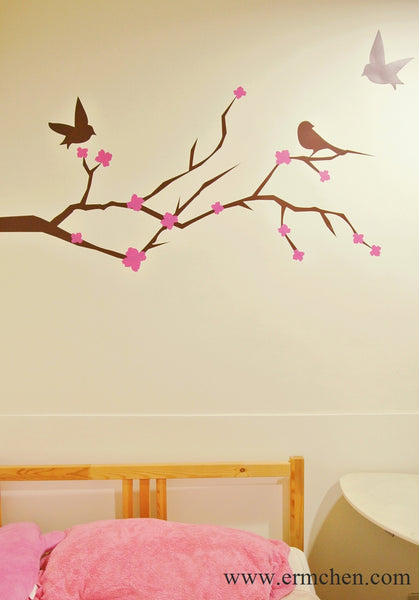 tree wall sticker looks painted onto the wall