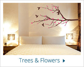 trees and flowers Wall Stickers