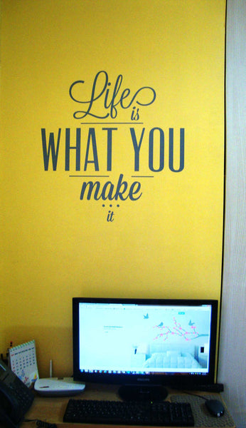 life wall sticker above my home office