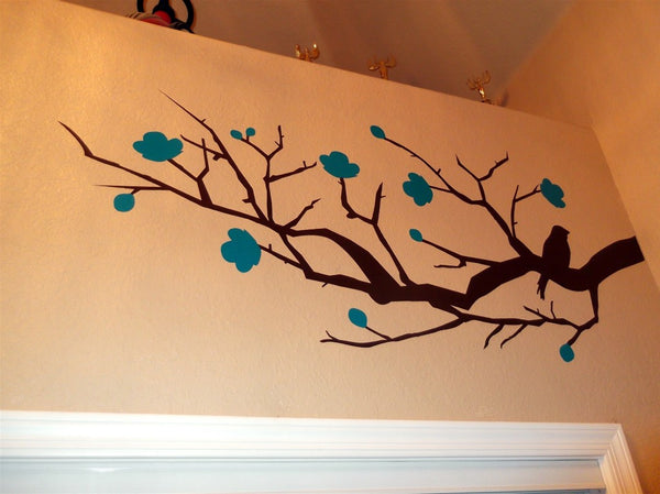 close up shot of the tree wall sticker