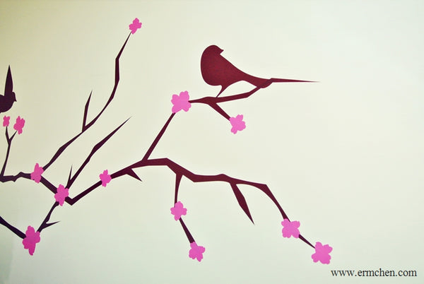 close up tree wall sticker