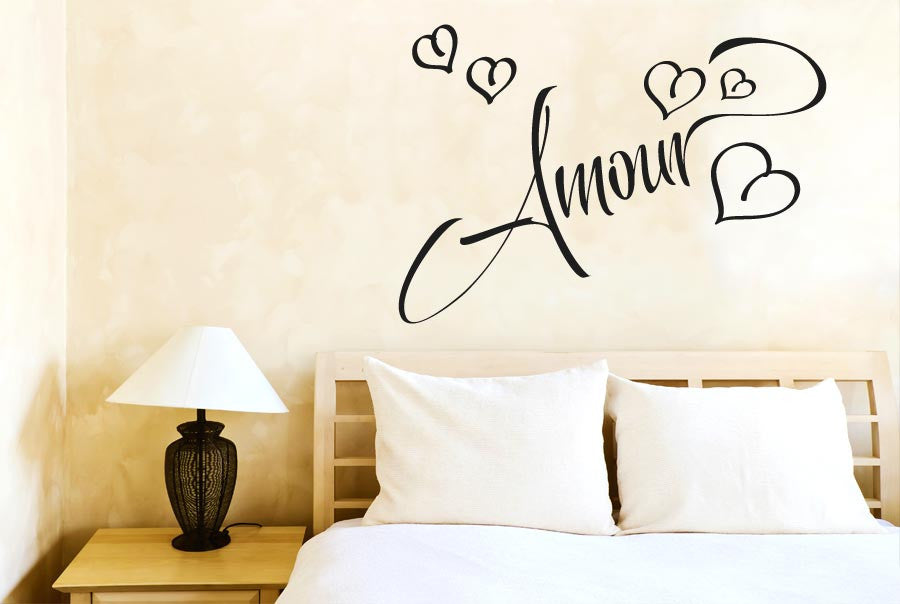 Amour love in french wall sticker