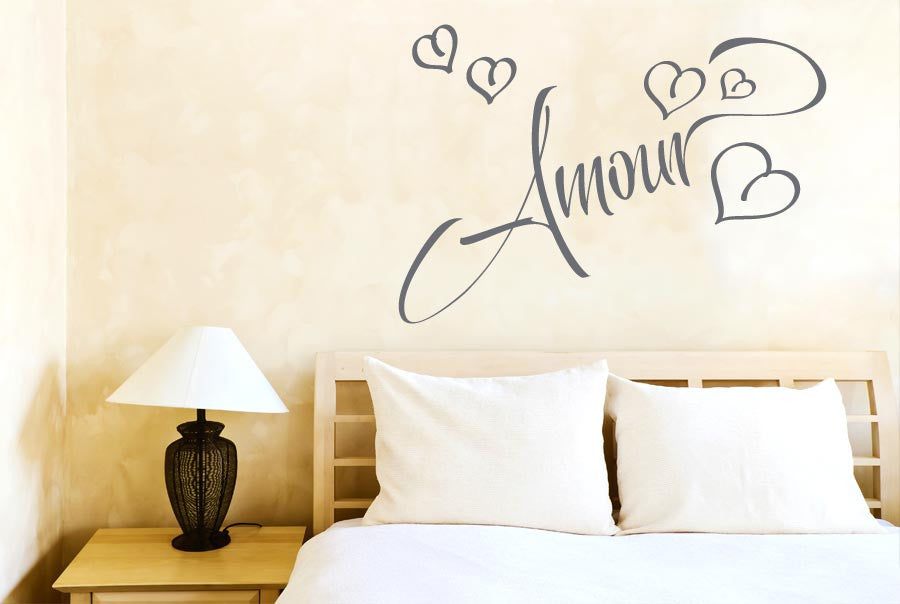 Amour Love In French Cut It Out Wall Stickers Uk And Art Decals