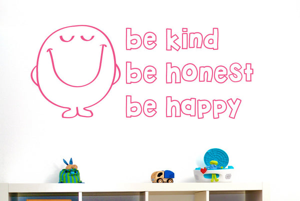 Be Kind Be Nice Be Happy Wall Sticker Cut It Out Wall