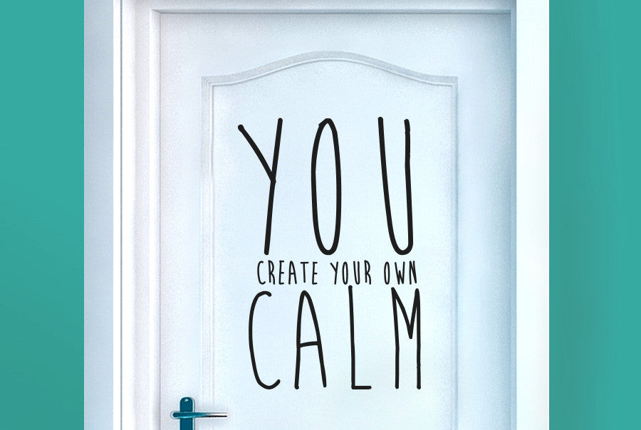 Create Your Own Calm Door Room Sticker Cut It Out Wall
