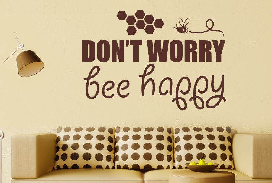 Dont Worry Bee Happy CUT IT OUT Wall Stickers Art Decals   CUT IT ...