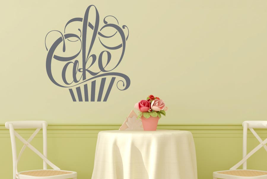 writing in form of a cake cut it out wall stickers uk and art decals