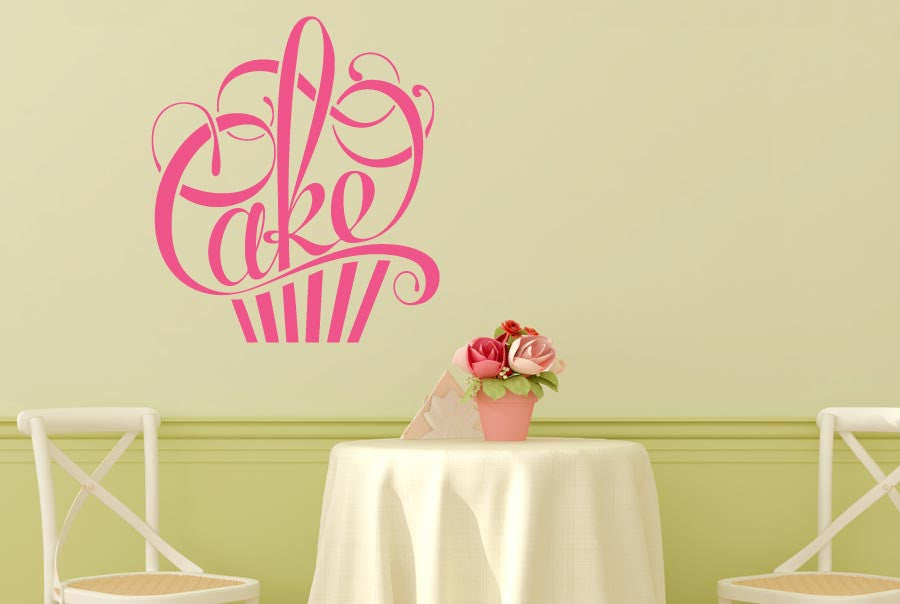 Writing In Form Of A Cake Wall Sticker