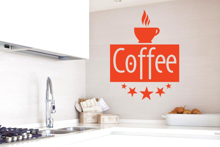 Five Star Coffee Cut It Out Wall Stickers Uk And Art Decals Cut It