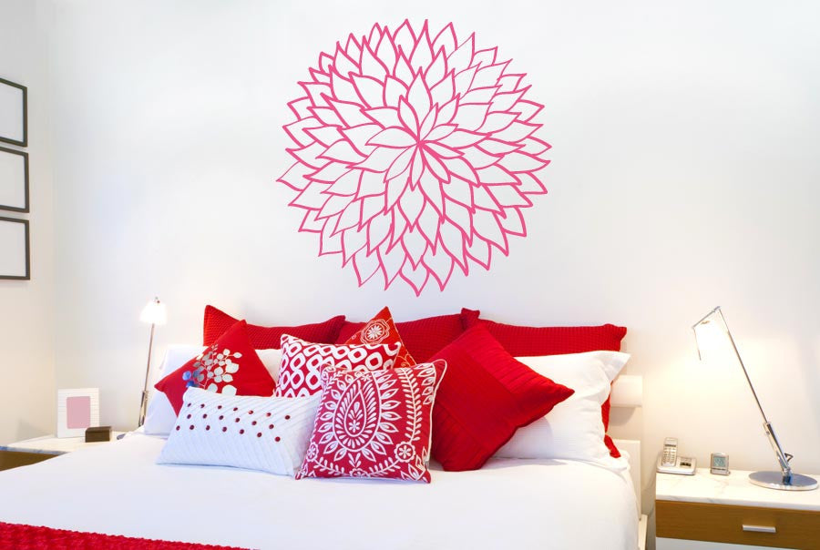 Flower Outlined Leafs Wall Sticker Part 90