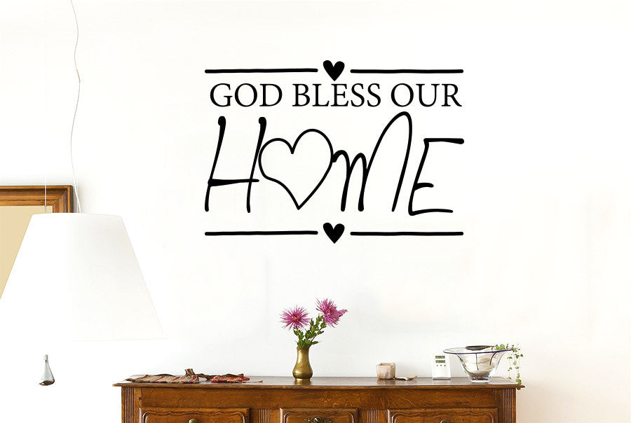 god bless our home wall sticker | cut it out wall stickers