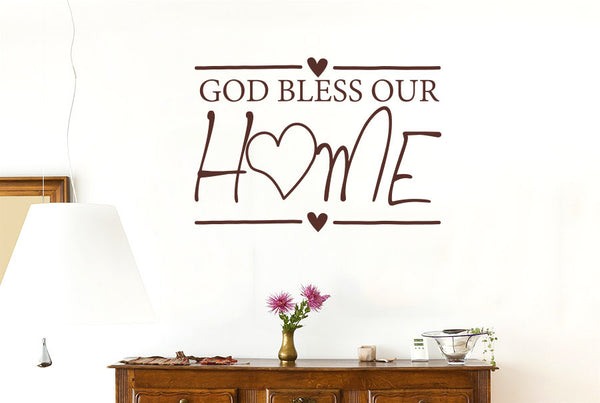 God Bless Our Home Wall Sticker Cut It Out Wall Stickers