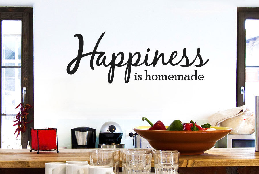 happiness is homemade cut it out wall stickers art decals | cut it