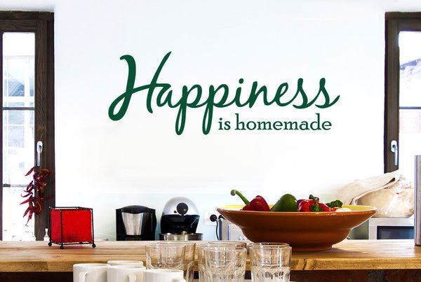 Happiness Is Homemade Cut It Out Wall Stickers Art Decals