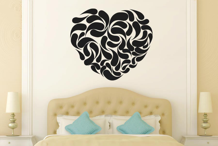 heart shape abstract cut it out wall stickers uk and art decals