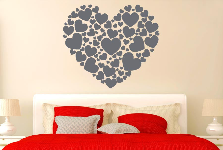 hearts made of hearts cut it out wall stickers uk and art decals