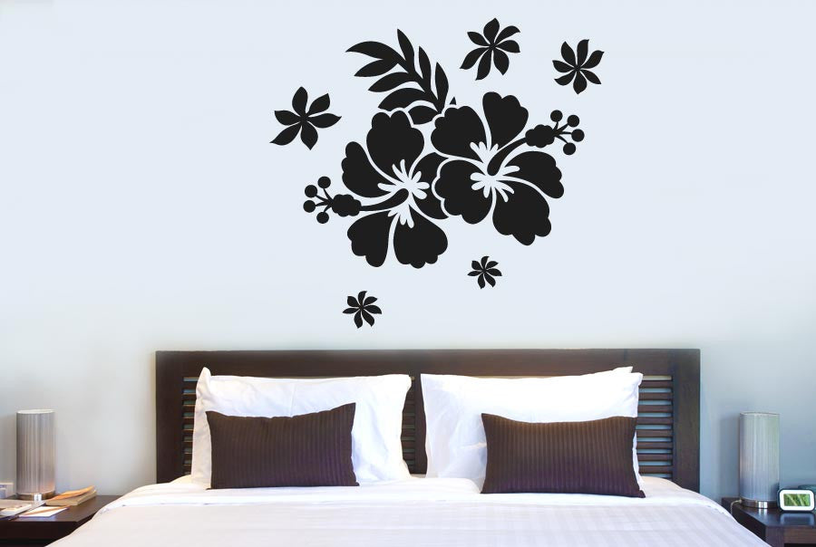 hibiscus flower cut it out wall stickers uk and art decals | cut it