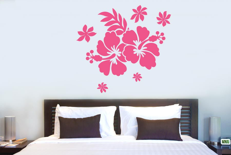 ... Flower Wall Stickers Uk Hibiscus Flower Cut It Out Wall Stickers Uk And  Decals Cut ...