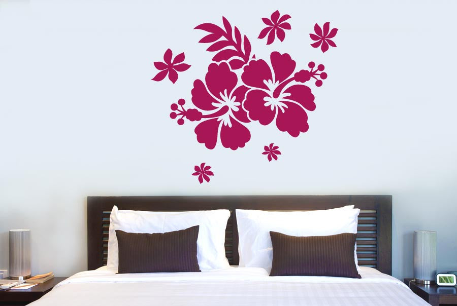 Delightful Hibiscus Flower Wall Sticker
