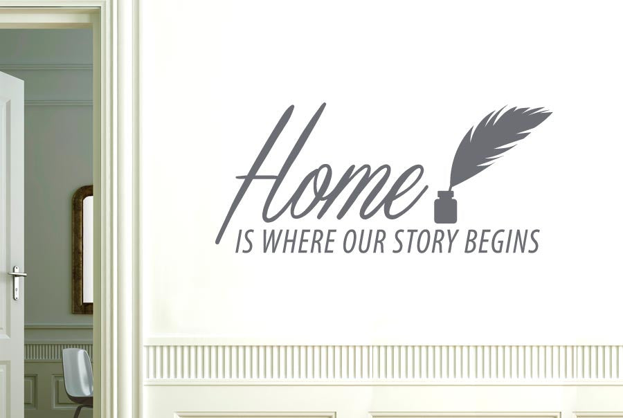 Home Is Where Our Story Begins Wall Sticker Part 32