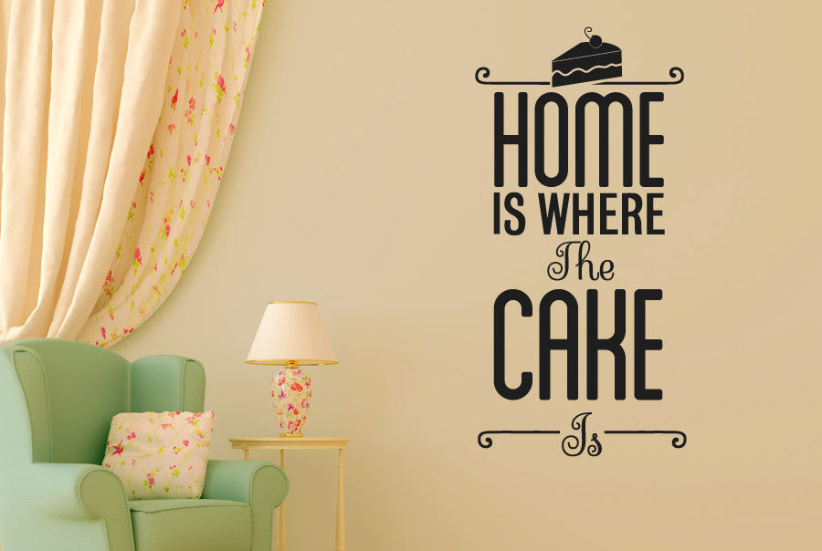 Home Is Where The Cake Is CUT IT OUT Wall Stickers uk and art decals . & Exelent Wall Art Decals Uk Composition - Art u0026 Wall Decor ...
