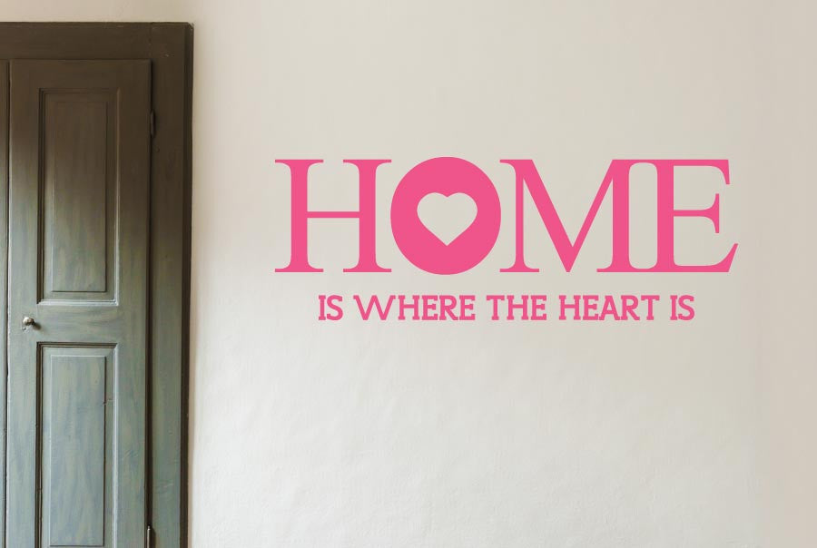 Home Is Where The Heart Is Large Wall Stickers uk art decals CUT