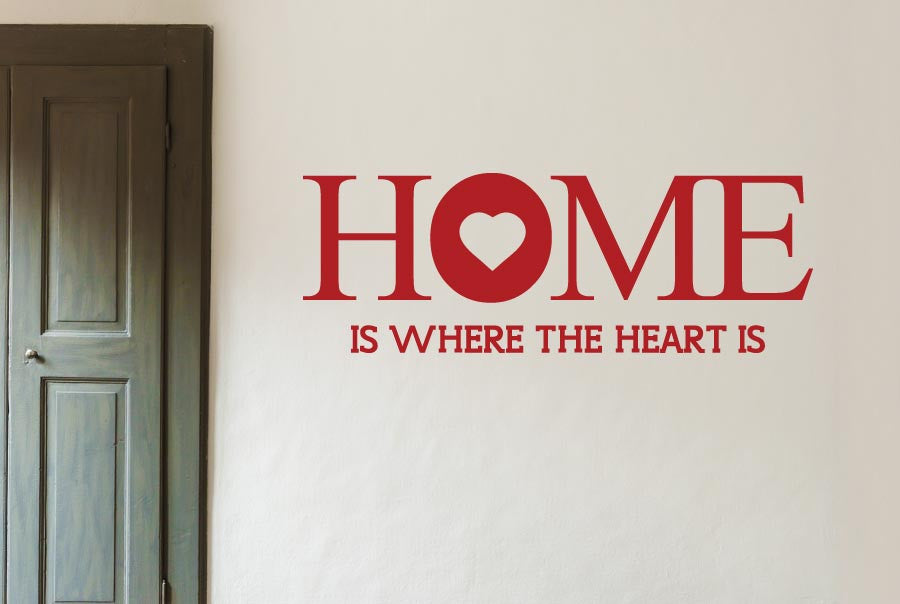 Home Is Where The Heart Is Large Wall Stickers Uk Art