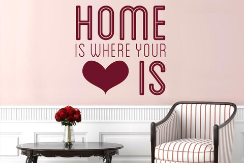 Home Is Where Your Heart Is Cute Wall Sticker Part 83