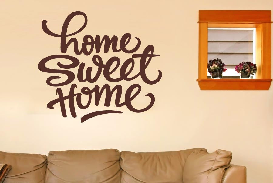 Home Sweet Home Felt Tip Pen Wall Sticker