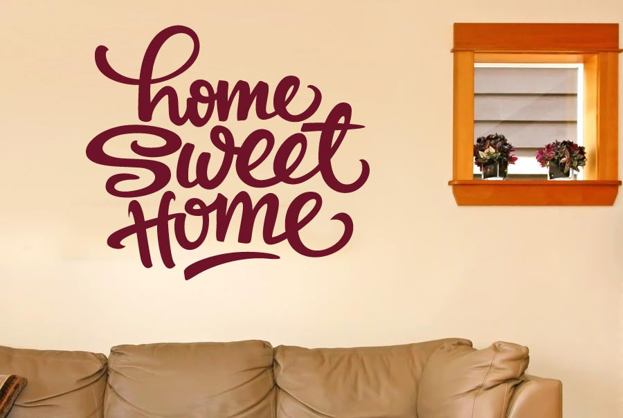 Home Sweet Home Felt Tip Pen Wall Sticker Part 12