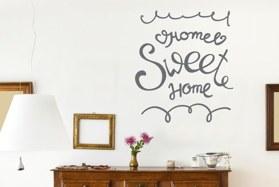 home sweet home hand written cut it out wall stickers uk art decals