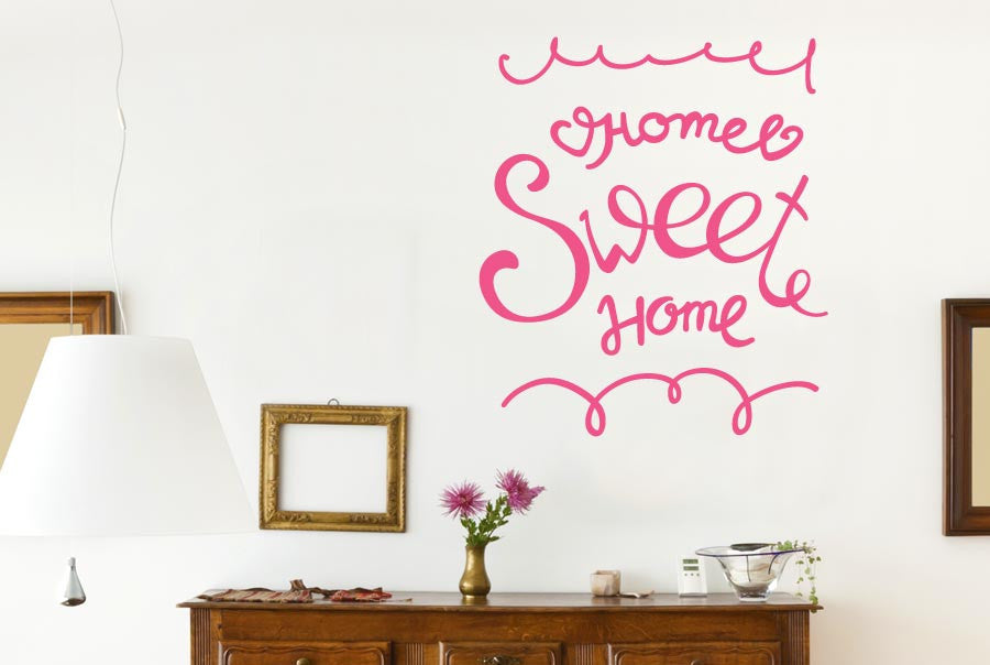 Home Sweet Home Hand Written CUT IT OUT Wall Stickers uk art decals ...