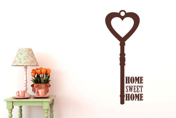 Home Sweet Home House Key Wall Sticker Cut It Out Wall