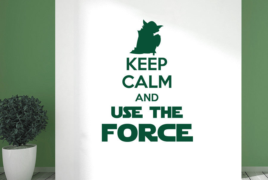 Keep calm and use the force wall sticker