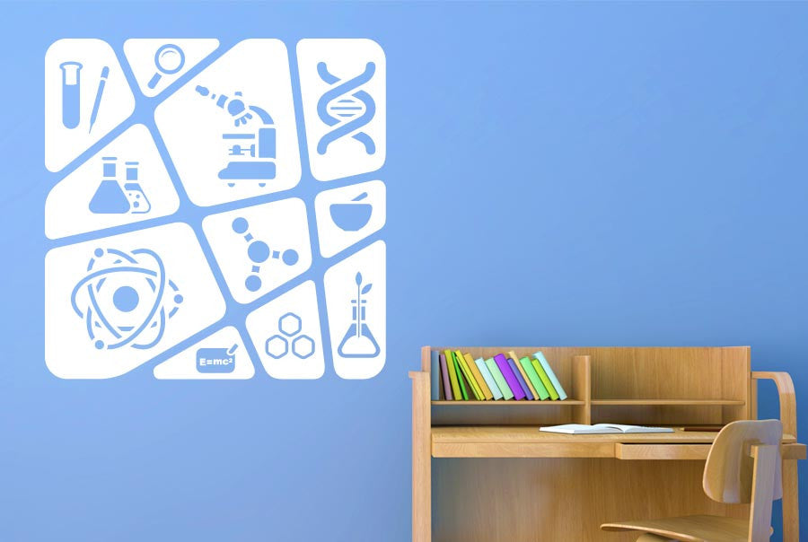 Kids Science Collage Wall Sticker Part 56