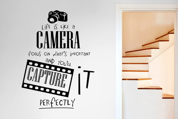 Life Is Like A Camera Focus On Whats Important And You Ll