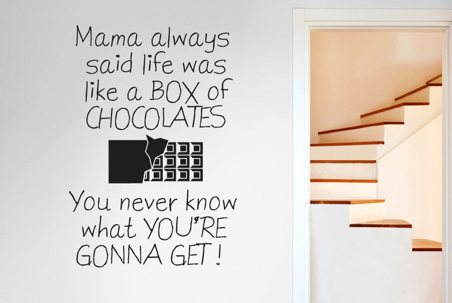 Mama Always Said Life Is Like A Box Of Chocolates Wall
