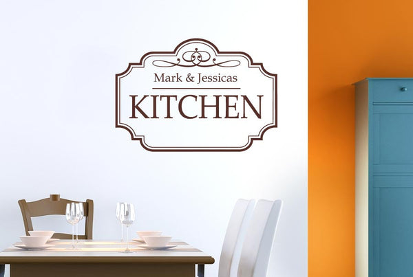 Personalised Classic Kitchen Sign Wall Stickers Uk Art