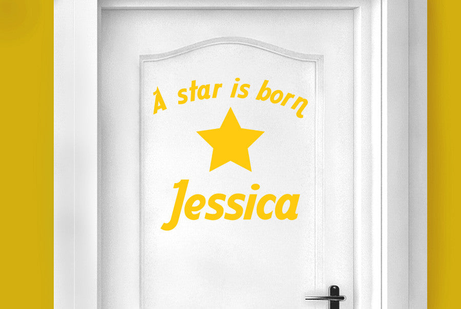 Personalised a star is born door room sticker