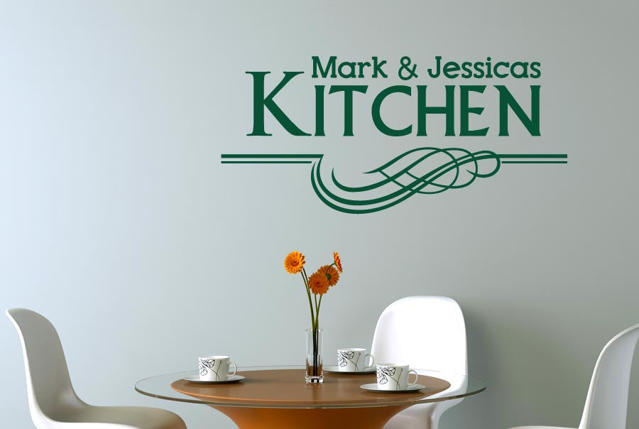 personalised kitchen underlined cut it out wall stickers uk art
