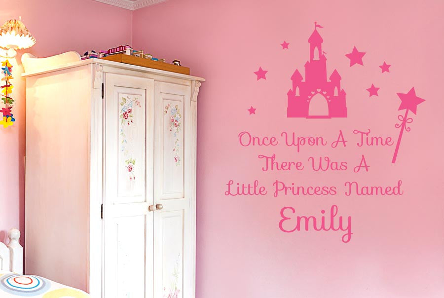 personalised once upon a time wall stickers uk art decals cut it