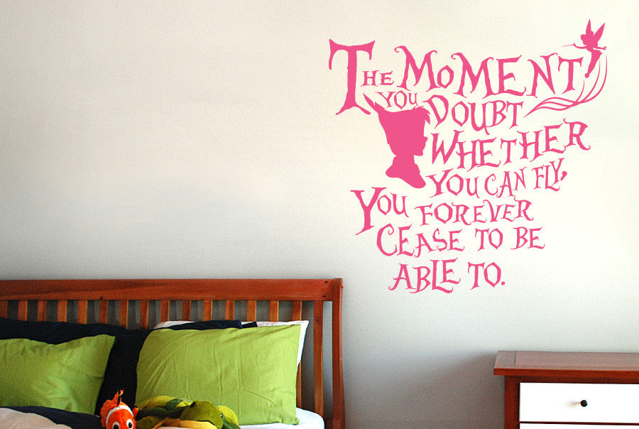 Peter Pan   The Moment You Doubt Whether You Can Fly Wall Sticker Part 64