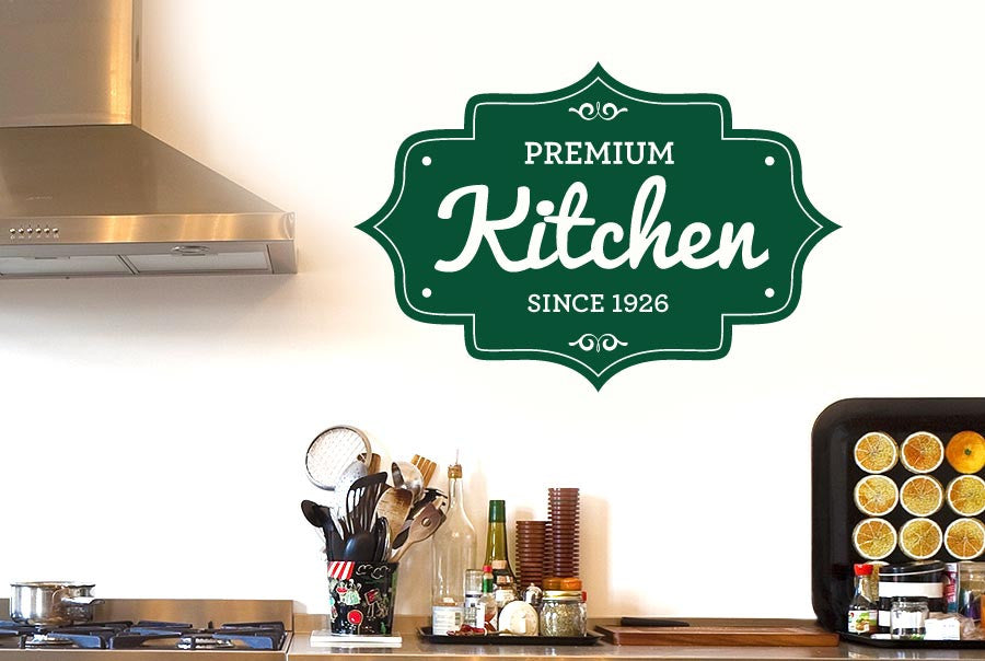 Wall Art Stickers Kitchen : Personalised kitchen round vintage wall stickers uk art