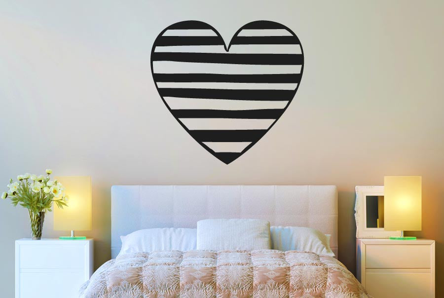 striped heart cut it out wall stickers uk and art decals | cut it