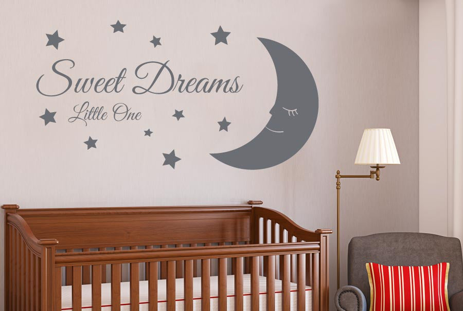 Sweet Dreams Little One Cut It Out Wall Stickers Uk And