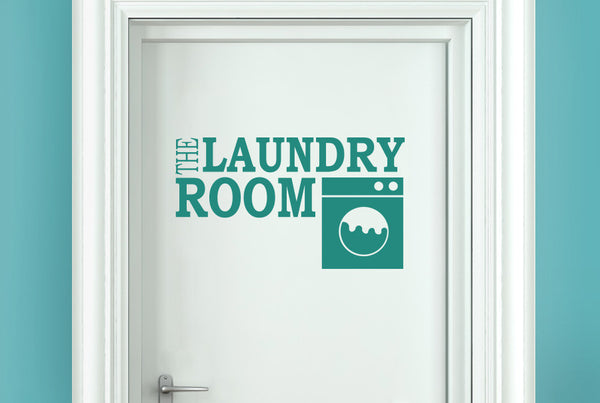 The Laundry Room Door Room Sticker  CUT IT OUT Wall Stickers