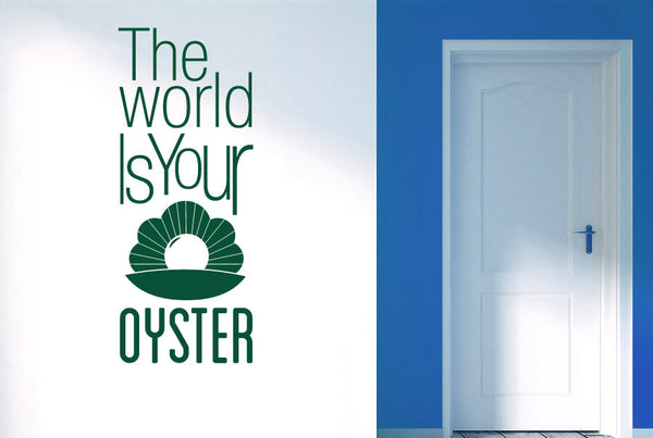 The World Is Your Oyster Cut It Out Wall Stickers Art