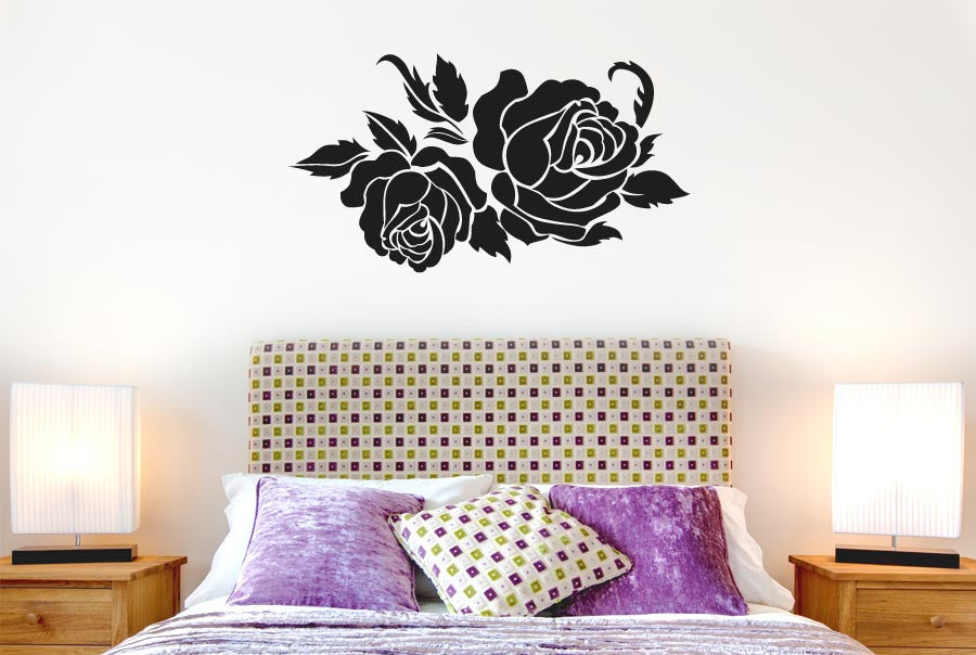 two roses cut it out wall stickers uk and art decals | cut it out
