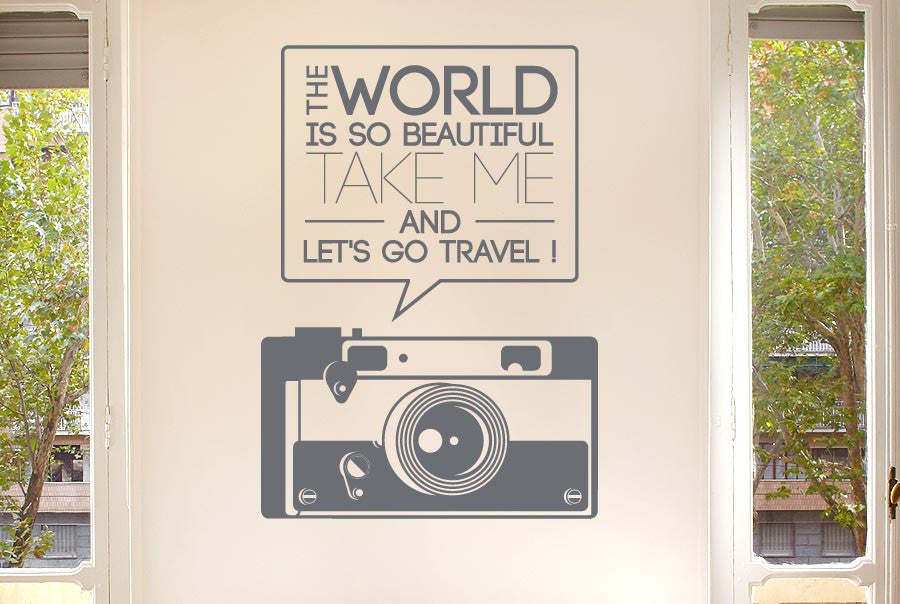 the world beautiful take me travel wall stickers uk art decals | cut